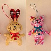 Подарки к праздникам ручной работы. Ярмарка Мастеров - ручная работа Коты, зайцы и собачки. Handmade.