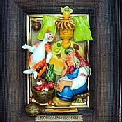 """Картины и панно ручной работы. Ярмарка Мастеров - ручная работа """"Кошачьи байки"""". Handmade."""