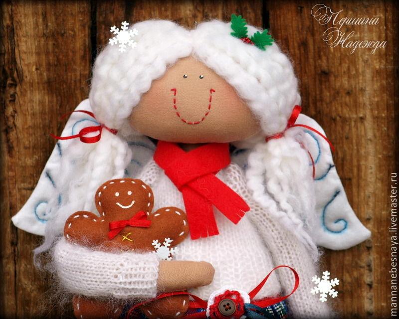 Зимний Ангел. Девочка с пряником и подарками, Коллекционные куклы, Выборг, Фото №1