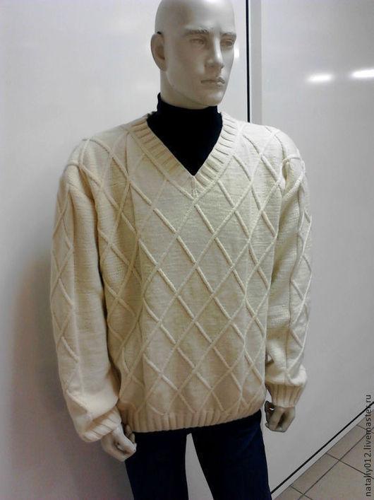"""Для мужчин, ручной работы. Ярмарка Мастеров - ручная работа. Купить ДЖЕМПЕР ВЯЗАНЫЙ """"DRESS CODE"""" (Кашемир 100%). Handmade."""