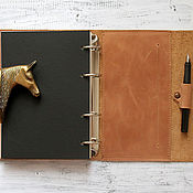 Канцелярские товары handmade. Livemaster - original item Leather notebook handmade. Handmade.
