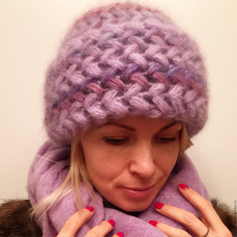 Вязание спицами объёмные шапки