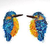 Материалы для творчества handmade. Livemaster - original item Handmade patch Kingfisher Bird. Handmade.