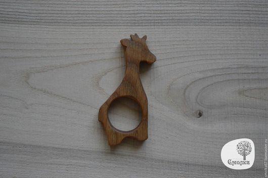 """Развивающие игрушки ручной работы. Ярмарка Мастеров - ручная работа. Купить Прорезыватель (грызунок) """"Жираф"""" . Развивающая деревянная игрушка.. Handmade."""