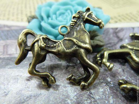 Для украшений ручной работы. Ярмарка Мастеров - ручная работа. Купить 3 шт металлические подвески бронзовую лошадь  C1294. Handmade.