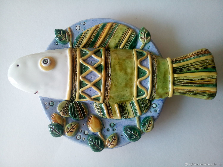Plate ceramic 'Fish' (medium), Plates, Pokrov,  Фото №1