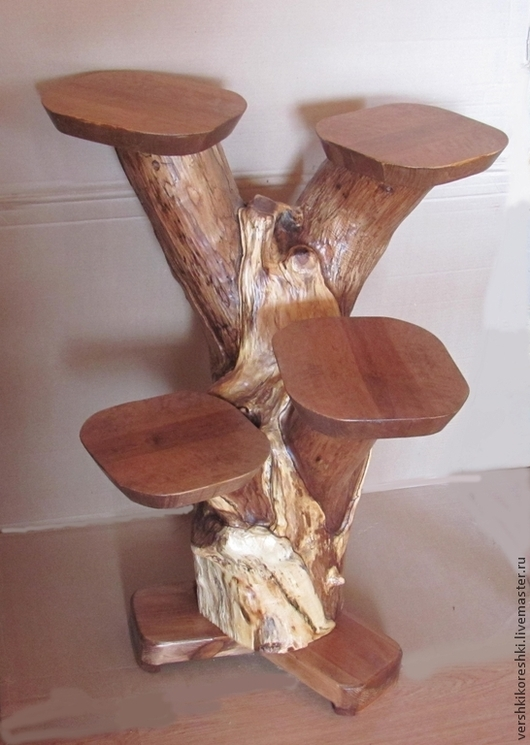 Мебель ручной работы. Ярмарка Мастеров - ручная работа. Купить подставка, подставка для цветов. Handmade. Коричневый, подставка из дерева, цветочница