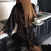 """Одежда ручной работы. Ярмарка Мастеров - ручная работа Халатик с кружевом """"Alice"""". Handmade."""