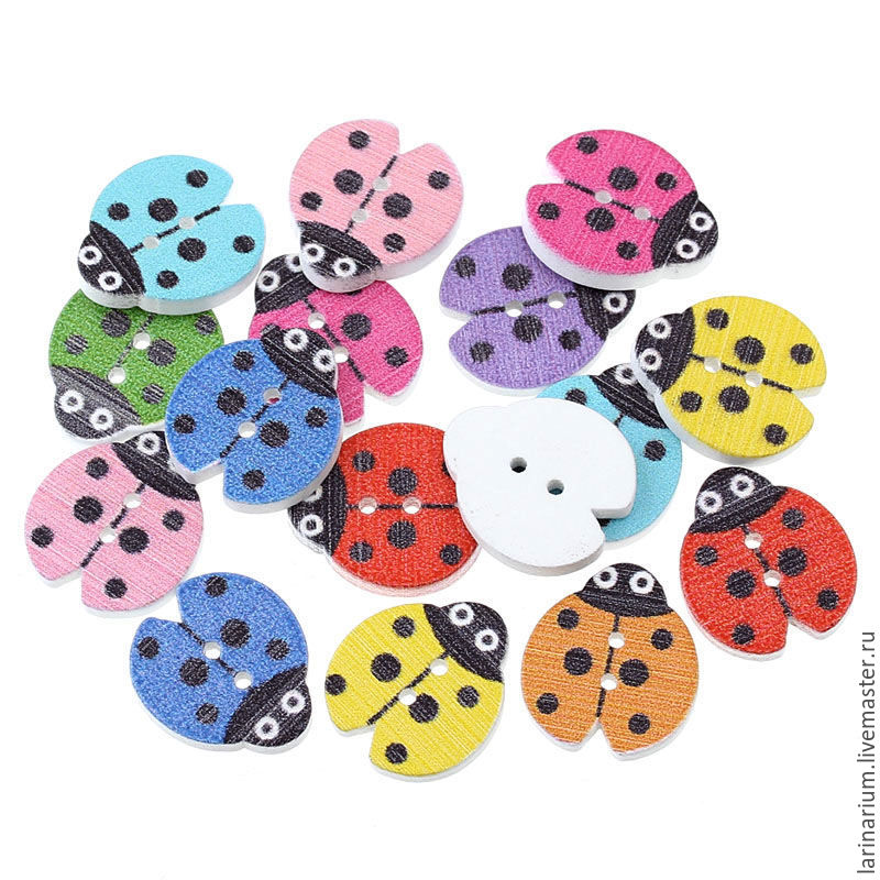 Button 'ladybug', Buttons, Moscow,  Фото №1