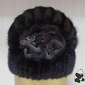 Аксессуары handmade. Livemaster - original item Stylish little wives beanie fur Finnish mink rose. Art.SS-7. Handmade.