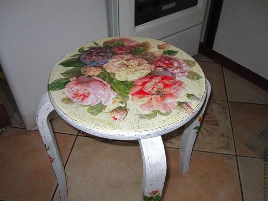 """Мебель ручной работы. Ярмарка Мастеров - ручная работа. Купить Стул"""" Пионы"""" и"""" Розы"""".. Handmade. Белый, для дома, для фотосессий"""