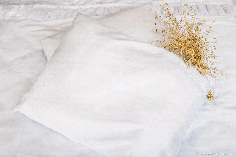 Однотонное постельное белье из белоснежного тенселя, Комплекты постельного белья, Москва,  Фото №1