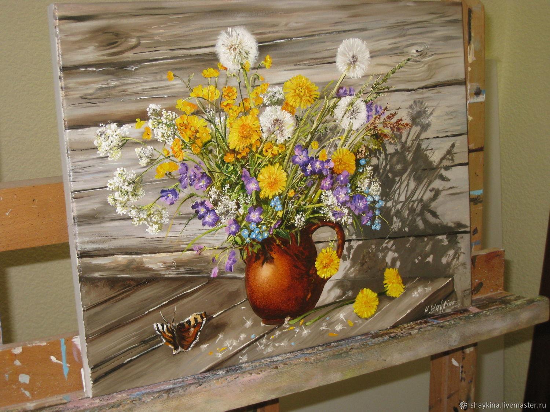 Деревенский натюрморт цветы