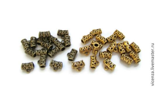 Бейл-держатель для подвески ажурный. \r\nРазмер 11*9 мм\r\nДля создания бижутерии ручной работы. \r\nЦвет: античное золото, античная бронза.  Для украшений. Рукоделкино.