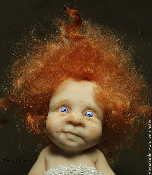 Коллекционные куклы ручной работы. Ярмарка Мастеров - ручная работа. Купить Нюся. Handmade. Рыжий, living doll, шерсть