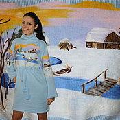 """Одежда ручной работы. Ярмарка Мастеров - ручная работа Платье """"Зимушка зима"""". Handmade."""