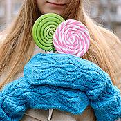 Аксессуары ручной работы. Ярмарка Мастеров - ручная работа Теплые вязаные шерстяные варежки Lollipop. Handmade.