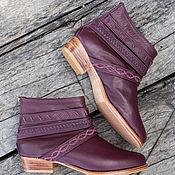 Обувь ручной работы handmade. Livemaster - original item Womens Jessica leather shoes low heels. Demi-season shoes. Handmade.