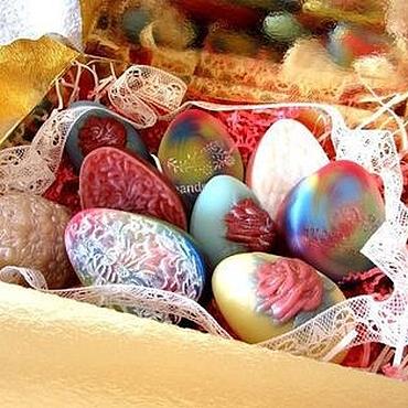 Косметика ручной работы. Ярмарка Мастеров - ручная работа Пасхальный набор №8, мыло, пасхальные яйца, подарок на Пасху, к Пасхе. Handmade.