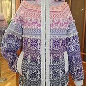 Одежда handmade. Livemaster - original item Winter knitted jacket