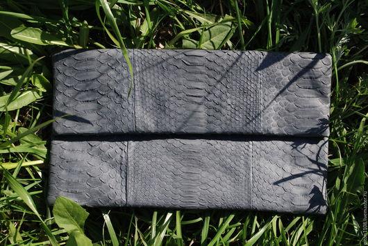 Женские сумки ручной работы. Ярмарка Мастеров - ручная работа. Купить Клатч из кожи питона. Handmade. Клатч, клатч из кожи