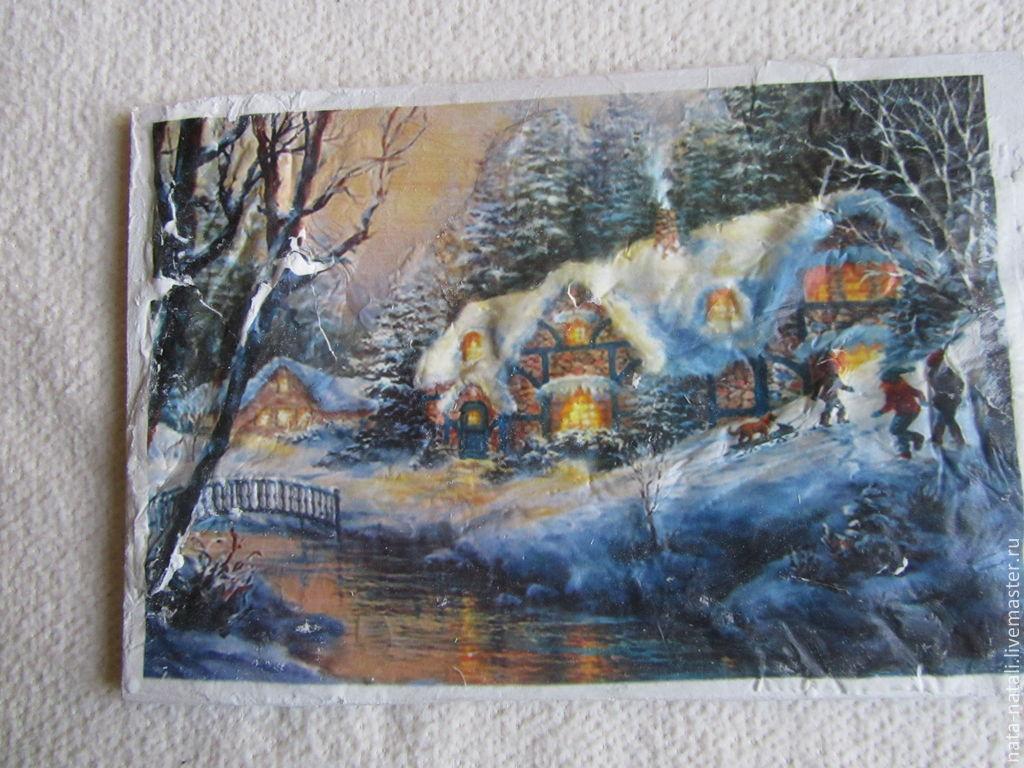 картина панно (Дом у реки), Картины, Москва, Фото №1