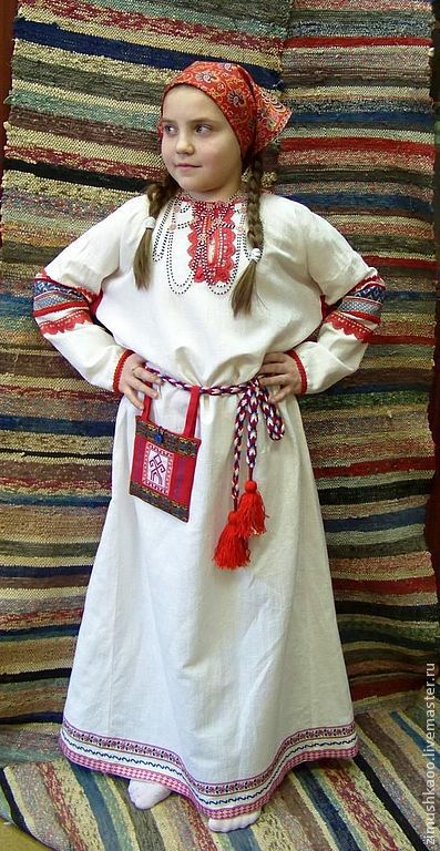 Одежда ручной работы. Ярмарка Мастеров - ручная работа. Купить Славянская рубаха для девочки. Handmade. Народный костюм, этно, тесьма