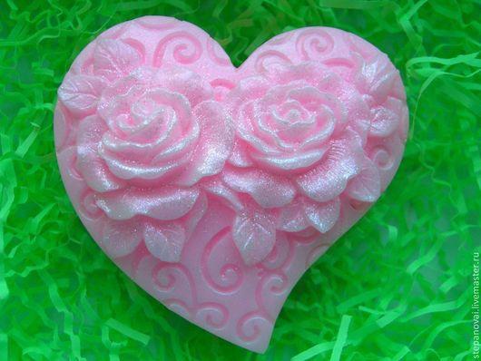 Мыло ручной работы. Ярмарка Мастеров - ручная работа. Купить Мыло ручной работы-Розы. Handmade. Мыло, мика косметическая