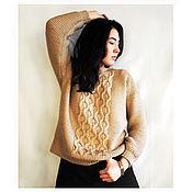 """Одежда ручной работы. Ярмарка Мастеров - ручная работа Пуловер унисекс """"Стильная классика"""". Handmade."""