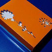 """Подарки к праздникам ручной работы. Ярмарка Мастеров - ручная работа коробка Крышка-дно """"Лето"""". Handmade."""