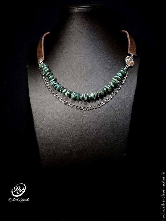 """Колье, бусы ручной работы. Ярмарка Мастеров - ручная работа. Купить 41. Ожерелье """"Фантазия"""". Handmade. Зеленый, украшения для офиса"""