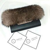 Сумки и аксессуары handmade. Livemaster - original item Clutch with fur of the Finnish auction Arctic Fox under a sable. Handmade.