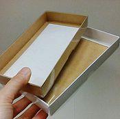 Материалы для творчества ручной работы. Ярмарка Мастеров - ручная работа Коробка 21х10х2,5 см крафт с прозрачной крышкой. Handmade.