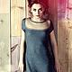 Платья ручной работы. Ярмарка Мастеров - ручная работа. Купить Платье графитового цвета. Handmade. Темно-серый, вязаное платье
