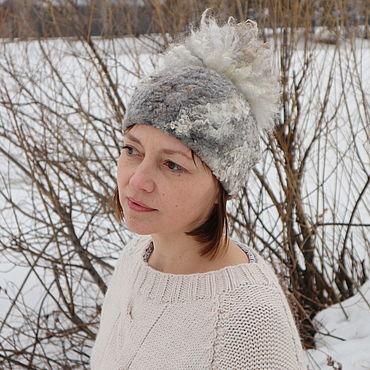 Accessories handmade. Livemaster - original item Hat felted wool winter. Handmade.