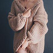 Одежда ручной работы. Ярмарка Мастеров - ручная работа Каридиган из толстой пряжи. Handmade.