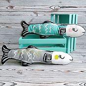Для дома и интерьера ручной работы. Ярмарка Мастеров - ручная работа Набор игрушек Рыбы. Handmade.