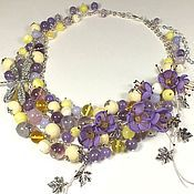 Украшения handmade. Livemaster - original item Whisper Of Morning Lilac. Necklaces, fabric flowers.. Handmade.
