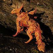 """Для дома и интерьера ручной работы. Ярмарка Мастеров - ручная работа статуэтка """"Дух осени"""" фигурка оссенняя кошка рыжий. Handmade."""