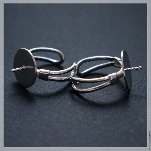 Для украшений ручной работы. Ярмарка Мастеров - ручная работа. Купить Основа для кольца с держателем серебро 925 проба большая. Handmade.