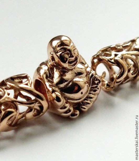 """Кулоны, подвески ручной работы. Ярмарка Мастеров - ручная работа. Купить """"Золотой Хотей"""" -шарм-бусина на браслет в стиле Пандора. Handmade."""