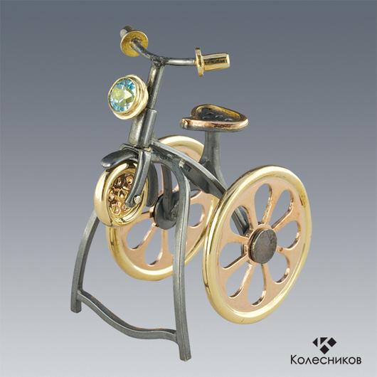 """Кольца ручной работы. Ярмарка Мастеров - ручная работа. Купить Кольцо """"Велосипед"""". Handmade. Серебряный, необычный подарок, эксклюзивное украшение"""