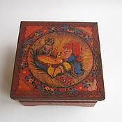Для дома и интерьера handmade. Livemaster - original item Box decoupage Fairy gnome. Handmade.
