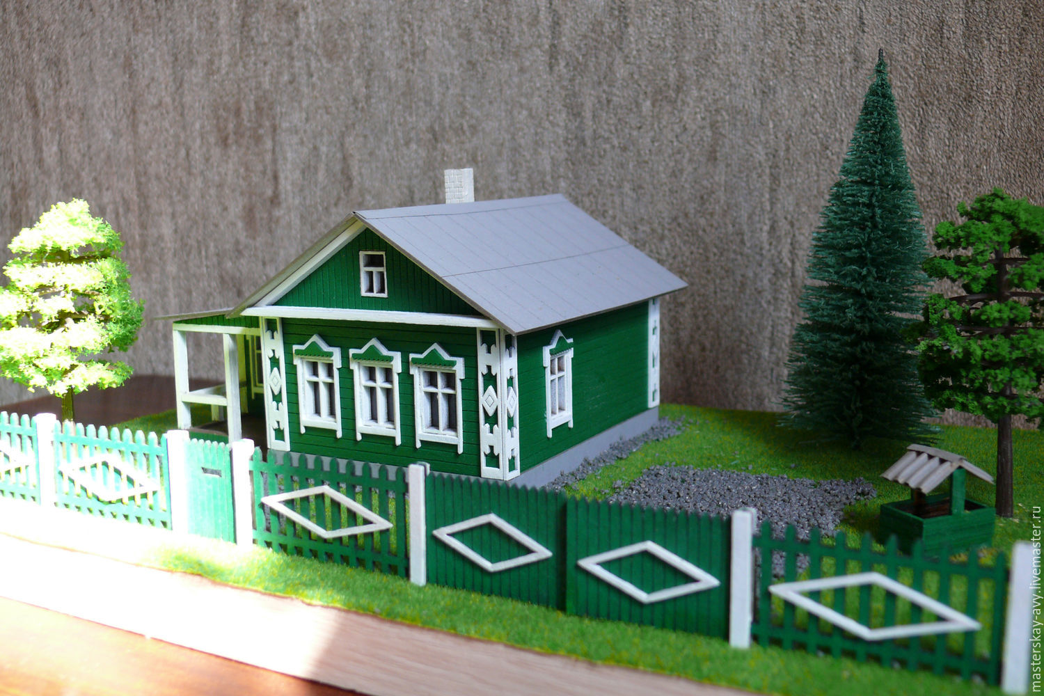The layout of a country house with landscape No. №1, Model, Krasnodar,  Фото №1