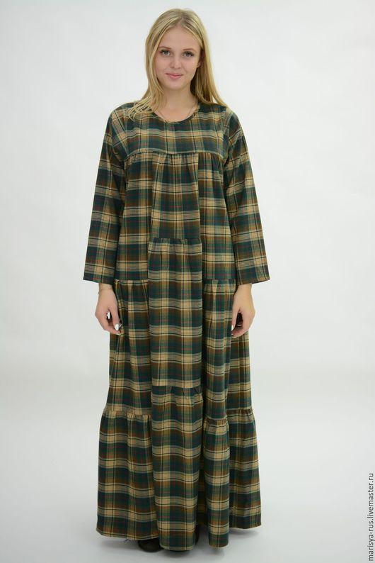 """Платья ручной работы. Ярмарка Мастеров - ручная работа. Купить """"Составное"""" шерстяное платье. Handmade. Зеленый, теплое платье"""