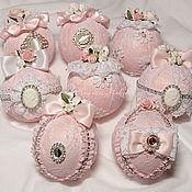 """Елочные игрушки ручной работы. Ярмарка Мастеров - ручная работа """"Кружевная"""" коллекция ёлочных шаров. Handmade."""
