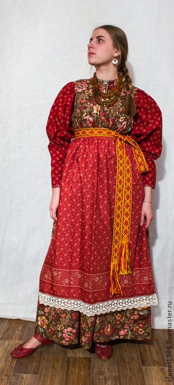 """Одежда ручной работы. Ярмарка Мастеров - ручная работа. Купить Костюм с сарафаном  """"на лифе или полуплатье"""" - Костюм истории.. Handmade."""