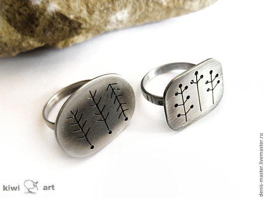 фото кольцо серебро, кольцо из серебра, серебряное кольцо, кольцо лес, кольцо поле, белый цвет, украшения в стиле минимализм, необычное кольцо, стильное кольцо