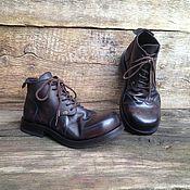 Обувь ручной работы. Ярмарка Мастеров - ручная работа Кожаные ботинки Артикул 110. Handmade.