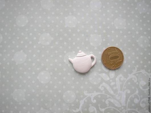 Открытки и скрапбукинг ручной работы. Ярмарка Мастеров - ручная работа. Купить Мини-чайник. Handmade. Белый, гипсовые фигурки, миниатюра